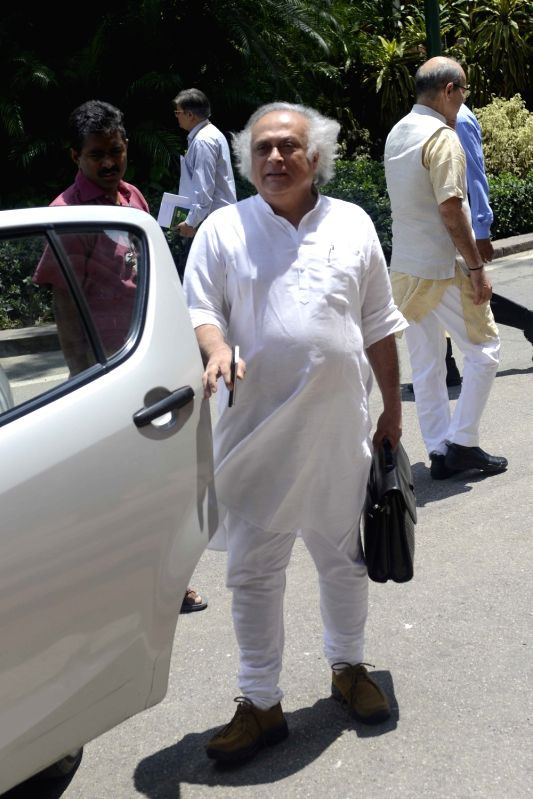 Congress MP Jairam Ramesh at Parliament in New Delhi, on Aug 4, 2016.