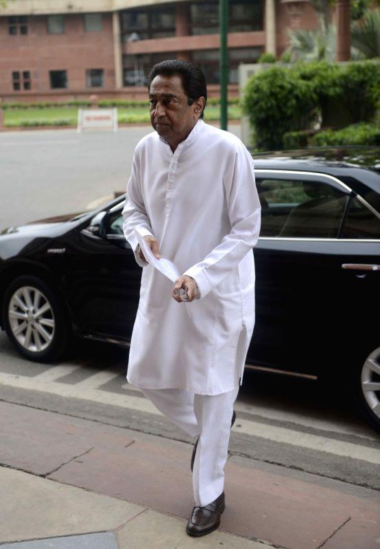 Congress MP Kamal Nath at Parliament in New Delhi, on July 25, 2016.(Image Source: IANS)