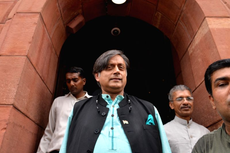 Congress MP Shashi Tharoor at Parliament, in New Delhi, on July 20, 2018. - Shashi Tharoor