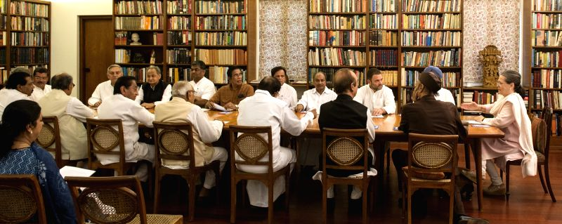 Congress President Sonia Gandhi chairs Congress Working Committee in New Delhi, on June 6, 2017. - Sonia Gandhi
