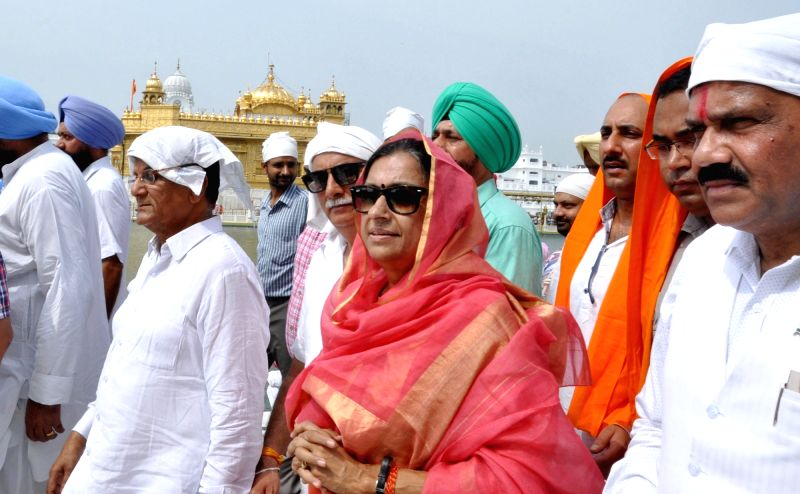 Congress secretary in-charge of Punjab Asha Kumari pays obeisance at the Golden Temple in Amritsar on July 22, 2016.