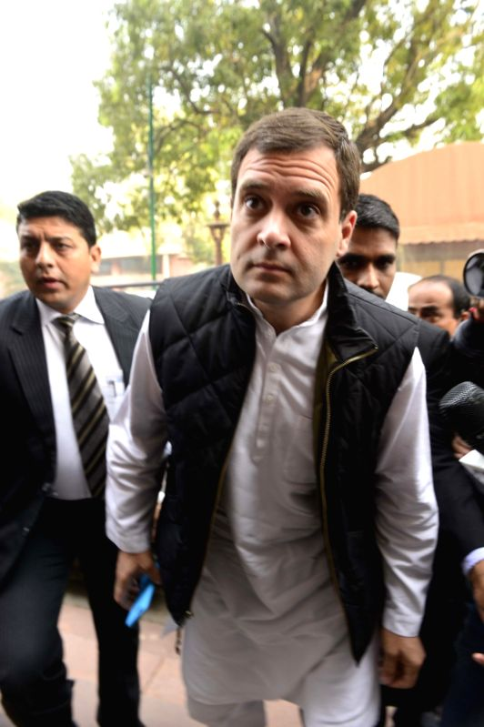 Congress vice president Rahul Gandhi arrives at the Parliament in New Delhi on Nov 30, 2015. - Rahul Gandhi