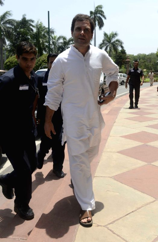 Congress vice president Rahul Gandhi at Parliament in New Delhi, on July 20, 2016. - Rahul Gandhi