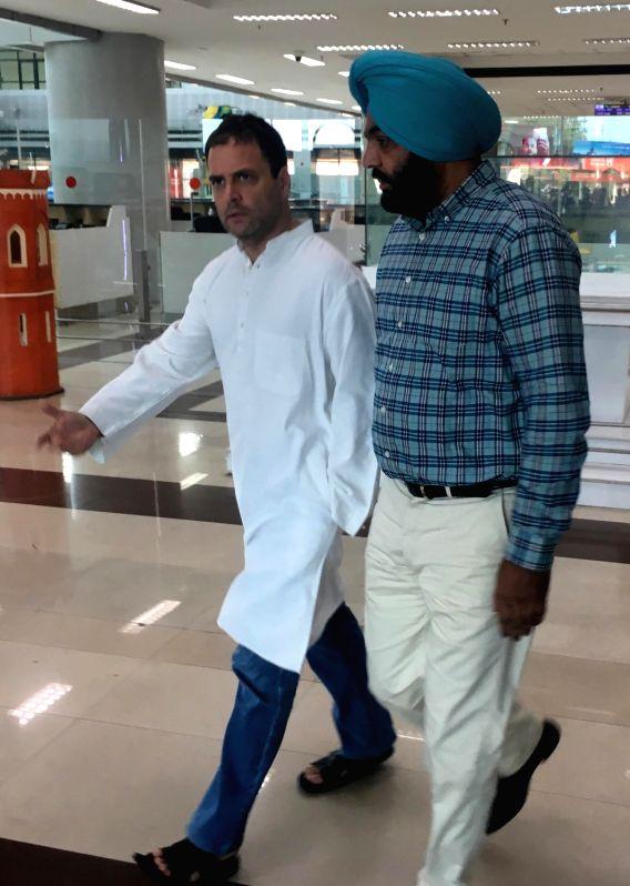 Congress Vice President Rahul Gandhi at Sri Guru Ram Dass Jee International Airport in Amritsar on June 10, 2017. - Rahul Gandhi
