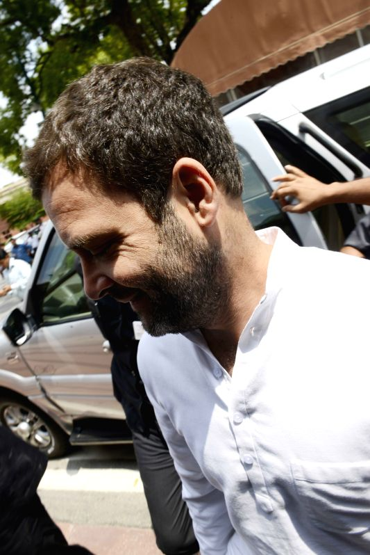 Congress vice-president Rahul Gandhi at the Parliament in New Delhi, on July 21, 2015. - Rahul Gandhi