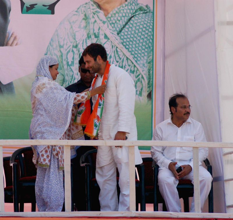 Congress vice president Rahul Gandhi during a rally in Malda, West Bengal on April 19, 2014.