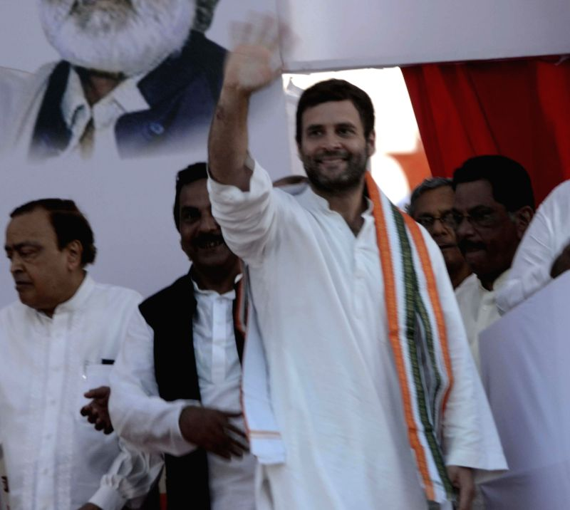 Congress vice president Rahul Gandhi during a rally in Mumbai on April 20, 2014.