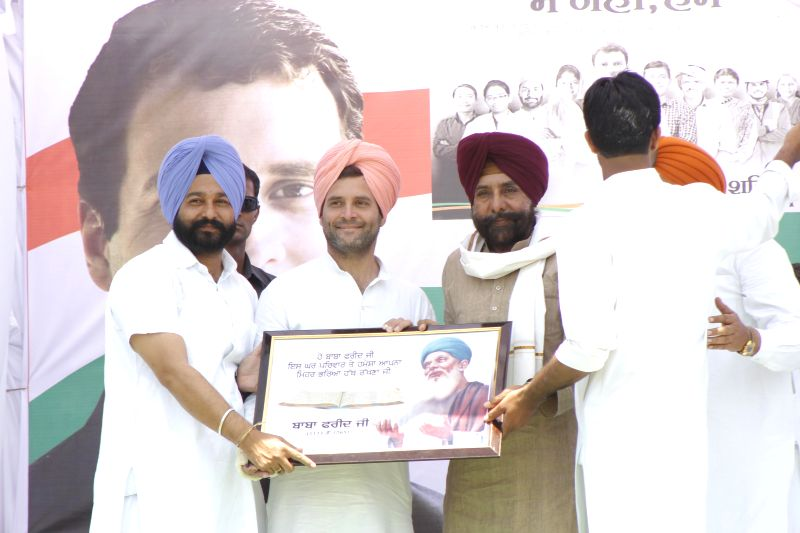Congress vice president Rahul Gandhi during a rally at Faridkot of Punjab on April 28, 2014.