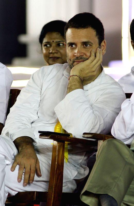 Congress vice president Rahul Gandhi during DMK chief Karunanidhi's birthday celebrations in Chennai on June 3, 2017. - Rahul Gandhi