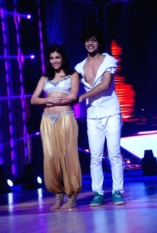 Contestants at the launch of `Jhalak Dikhhla Jaa` Season 5 at Filmistan Studios.