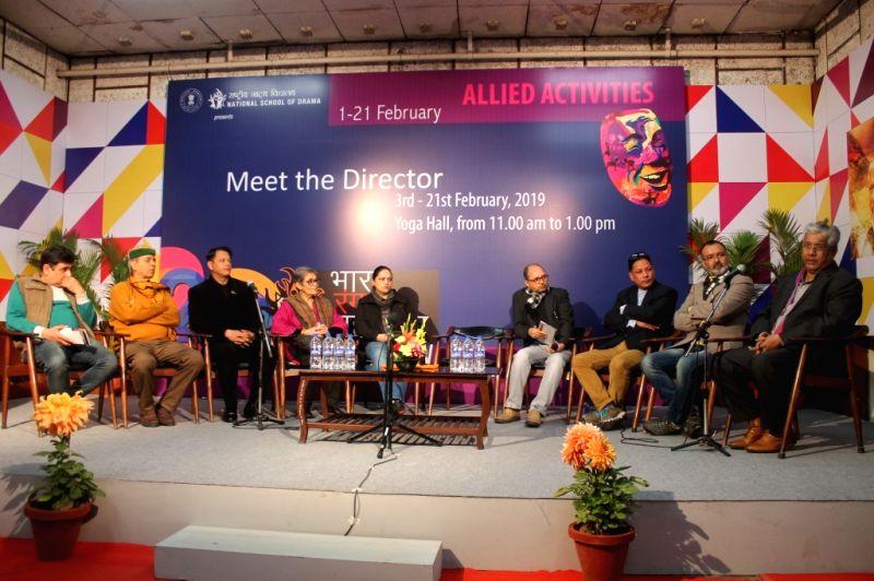 Coordinator- Rohit Tripathi, Yoga Teacher NSD-  Lokendra Trivedi, Director of The Dumb Waiter- Thawai Thiyam,Theatre critics Ms. Amba Sanyal, Coordinator- Neetu Vaid, Theatre critic Mr. ... - Rohit Tripathi, Shivkesh Mishra and Bapi Bose