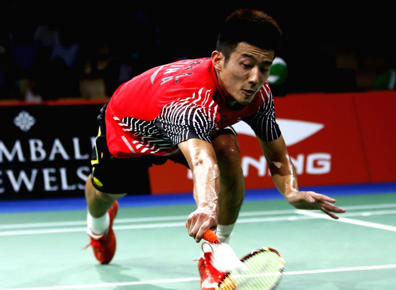 Chen Long of China returns the shuttle during the Men's Singles Round 3 match against Srikanth K. of India on Day 4 of Li Ning BWF World Championships 2014 at ...
