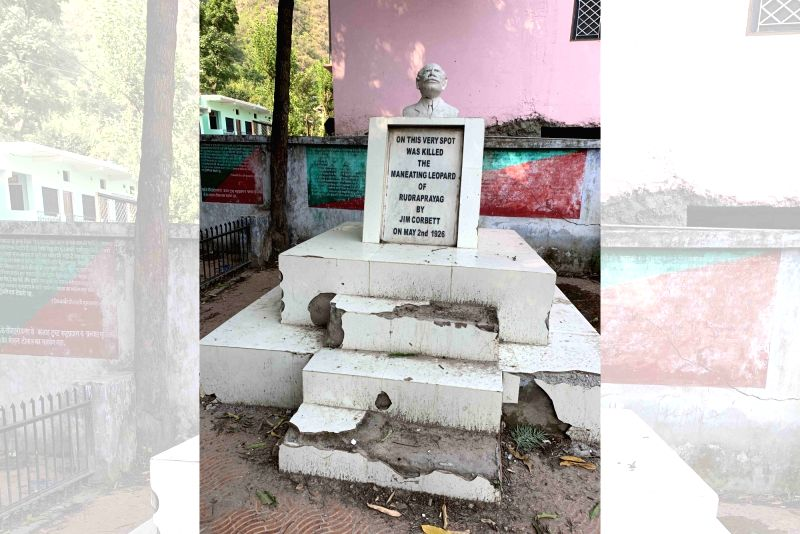 Corbett memorial lies in shambles at Rudraprayag.