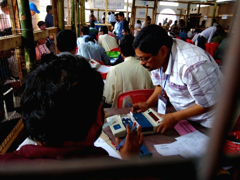Counting of votes begin in Tripura.