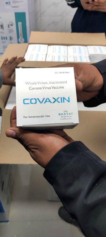 Covaxin Vaccine arrive at Rajiv Gandhi Hospital in New Delhi