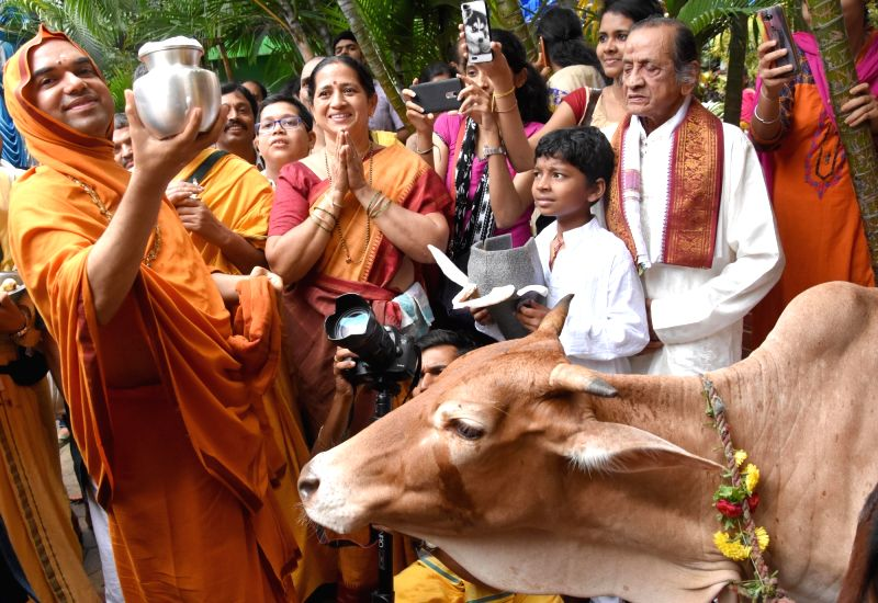Cow Milk Fest underway at Ramachandra Pura Mutt in Bengaluru, on June 11, 2017.