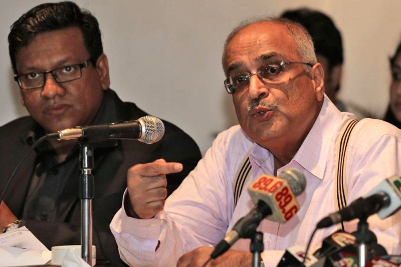 CPD Honorary Fellow Debapriya Bhattacharya during a press conference regarding 'Recommendations for the National Budget 2014-14' at BRAC Centre Inn in Dhaka of Bangladesh on May 4, 2014.