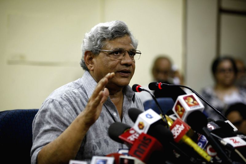 CPI -M General Secretary Sitaram Yechury addresses a press conference in New Delhi, on May 19, 2016. - Sitaram Yechury