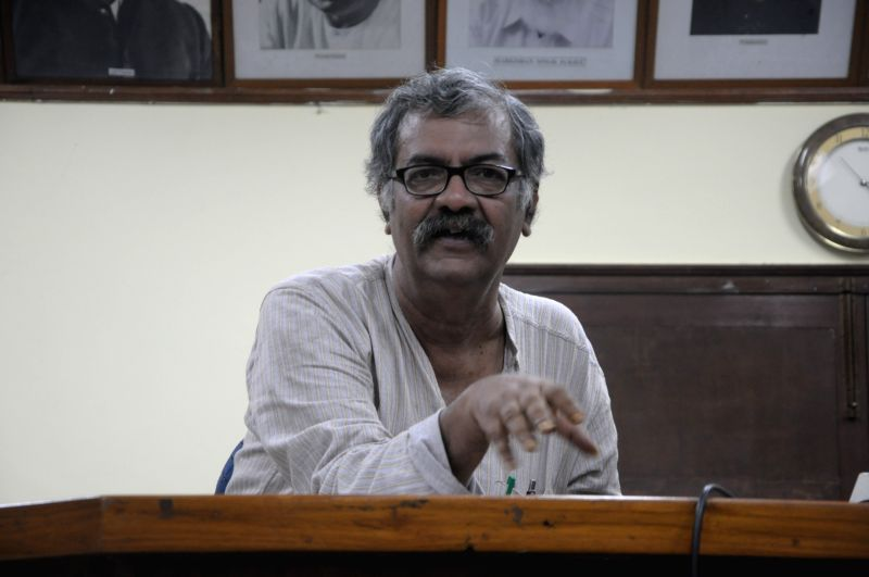 CPI-M leader Nilotpal Basu addresses a press conference, in New Delhi, on July 26, 2018. - Nilotpal Basu