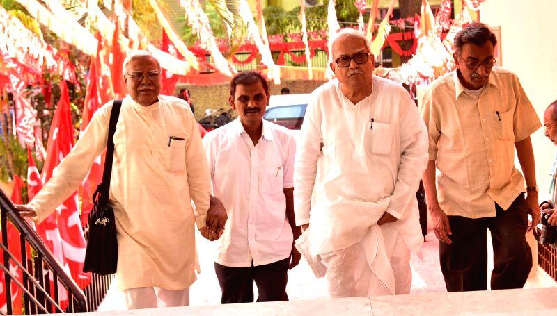CPI(M) leaders Biman Bose and Surjya Kanta Mishra.