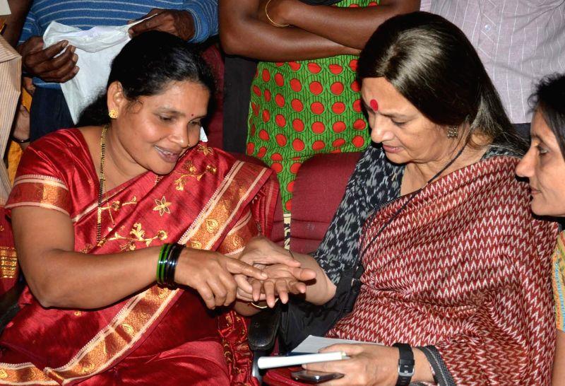CPI-M Politburo member Brinda Karat during a seminar on Adivasi Budakattu Samudayagala Baduku  (Routine Life of Tribal People) in Bengaluru, on Nov 22, 2015.