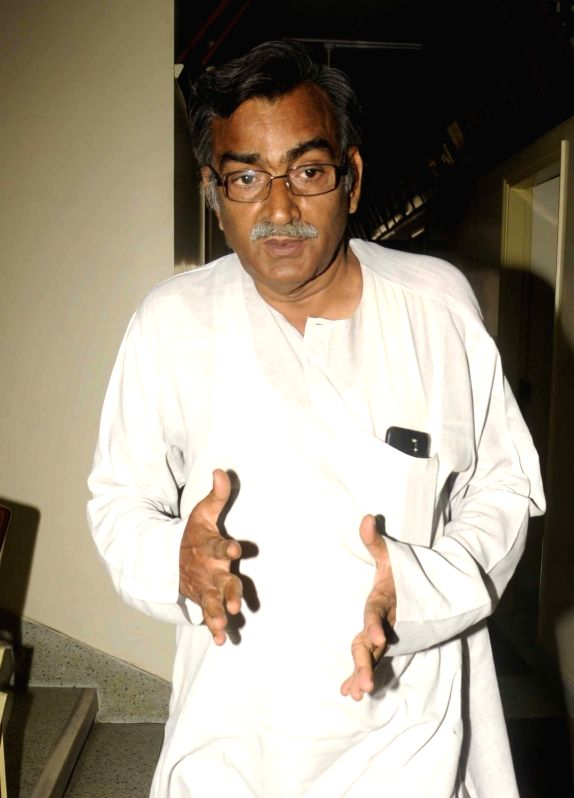 CPI-M State secretory Surja Kanta Mishra arrives to attend a Left Front meeting in Kolkata on May 13, 2016. - Surja Kanta Mishra