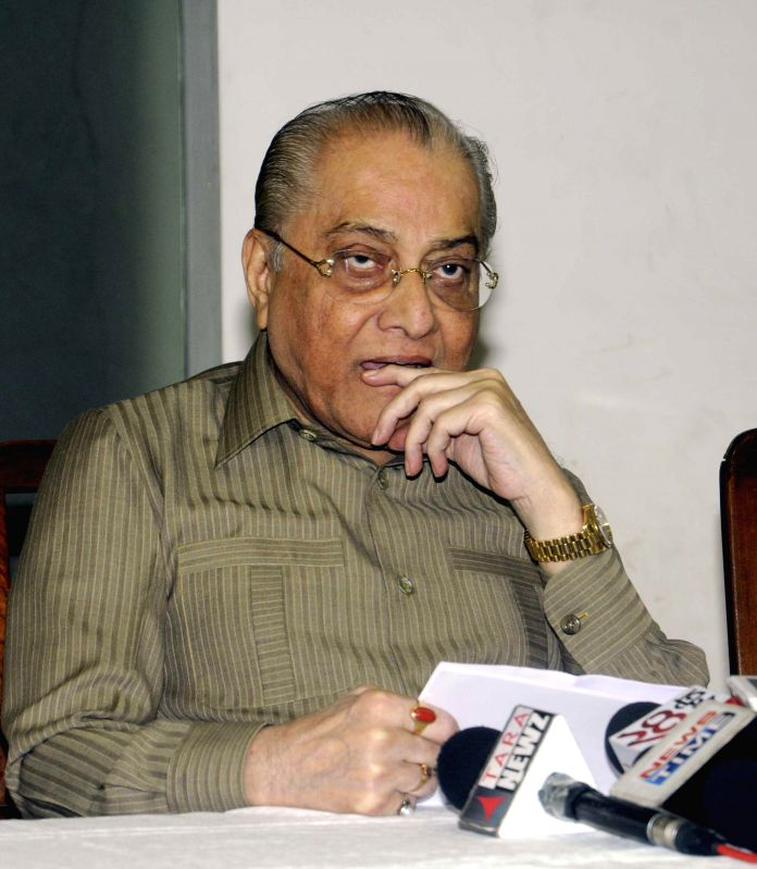 Cricket Association of Bengal (CAB) president Jagmohan Dalmiya during a press conference after CAB Annual General Meeting at Eden Garden in Kolkata on July 27, 2014.
