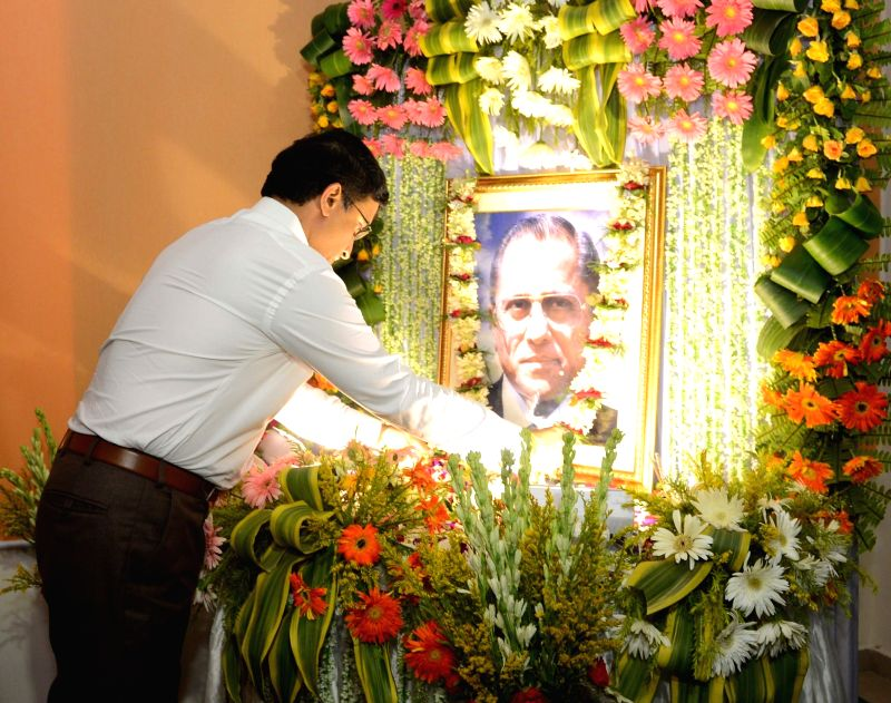 Cricket Association of Bengal president Sourav Ganguly pays tribute to Jagmohan Dalmiya on his birth anniversary in Kolkata, on May 30, 2016. - Sourav Ganguly
