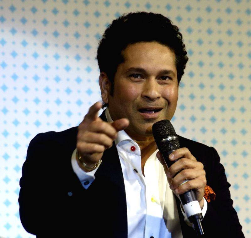 Cricket legend Sachin Tendulkar at the launch of Smartron srt.phone in New Delhi, on May 3, 2017. - Sachin Tendulkar