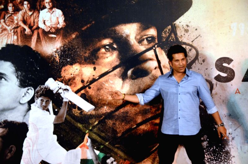 "Cricket legend Sachin Tendulkar at the trailer launch of ""Sachin A Billion Dream"" - a biographical film on him in Mumbai on April 13, 2017. - Sachin Tendulkar"