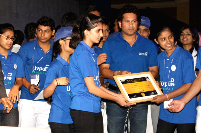 Cricket legend Sachin Tendulkar launches National CSR Campaign ``Shuddh Paani - Swastha Bharat`` to curb the killer menace (Water-Borne Diseases) which is the largest cause of mortality in children ..