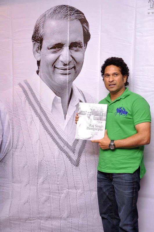 Cricket player Sachin Tendulkar during the launch of book Raj Singh Dungarpur - A Tribute in Mumbai on July 25, 2014. (Photo: IANS)0 - Sachin Tendulkar