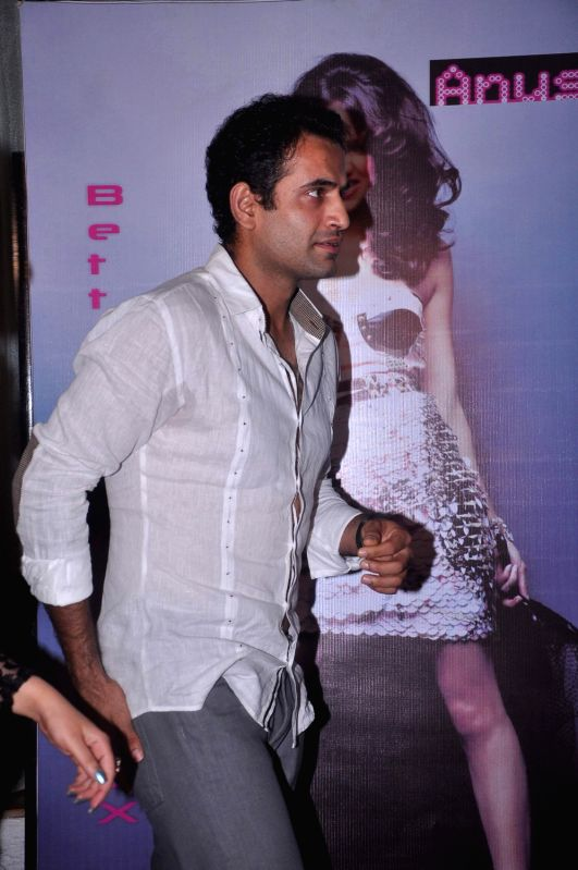 Cricketer Irfan Pathan during Anusha Dandekar`s  album launch `Better Then Your EX` in Tryst, Mumbai.