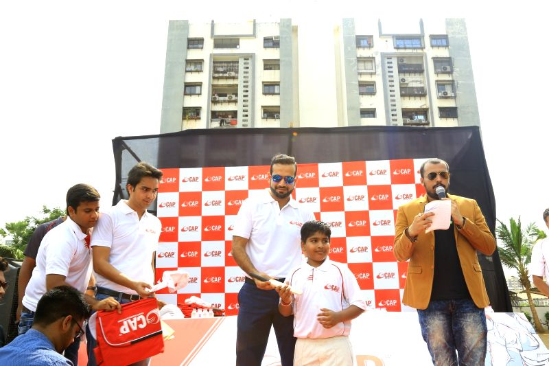 Cricketer Irfan Pathan launches Cricket Academy of Pathans in Surat, on June 2, 2017.