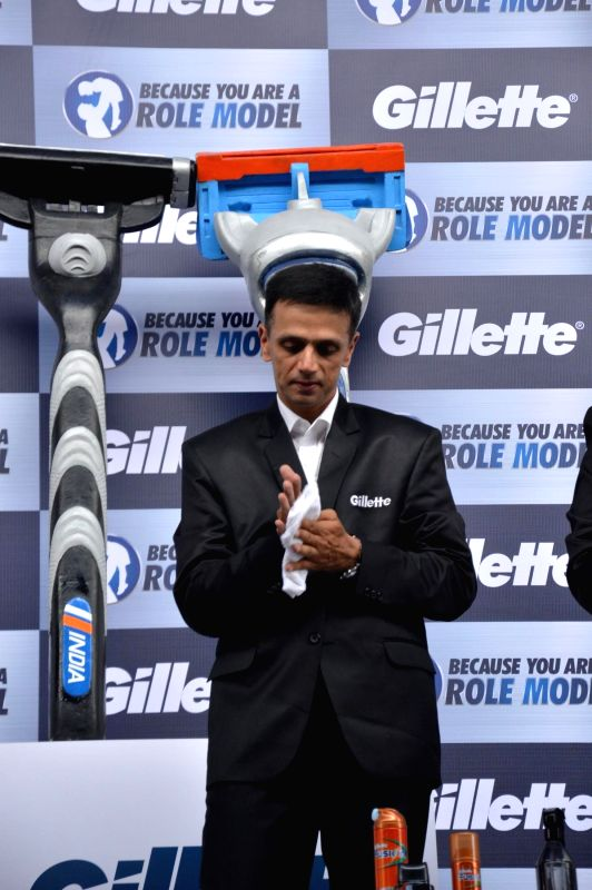Cricketer Rahul Dravid during an event organized to celebrate a nationwide campaign `Because You Are A Role Model` by Gillette in Mumbai on June 17th, 2014. - Rahul Dravid