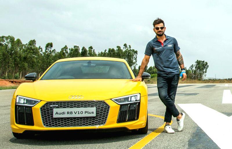 Virat At The Launch Of Audi R8 V10 Plus
