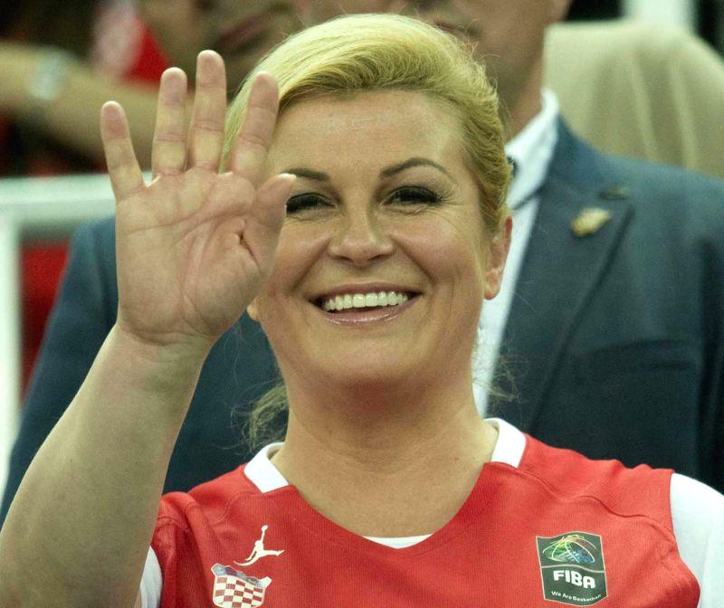 Croatia President Kolinda Grabar Kitarovic. (Image Source: IANS)