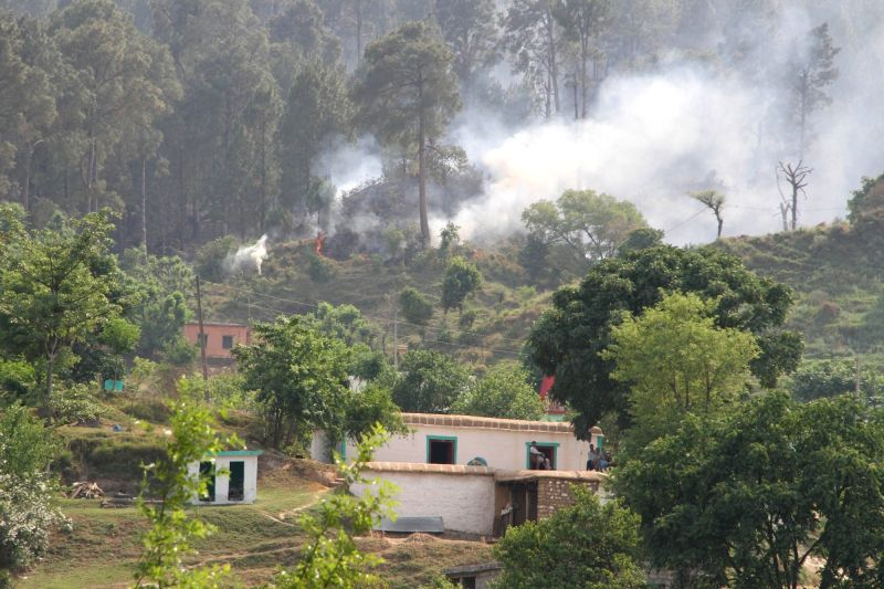 Cross border firing underway in Jammu and Kashmir's Nowshera sector of the LoC on May 14, 2017.