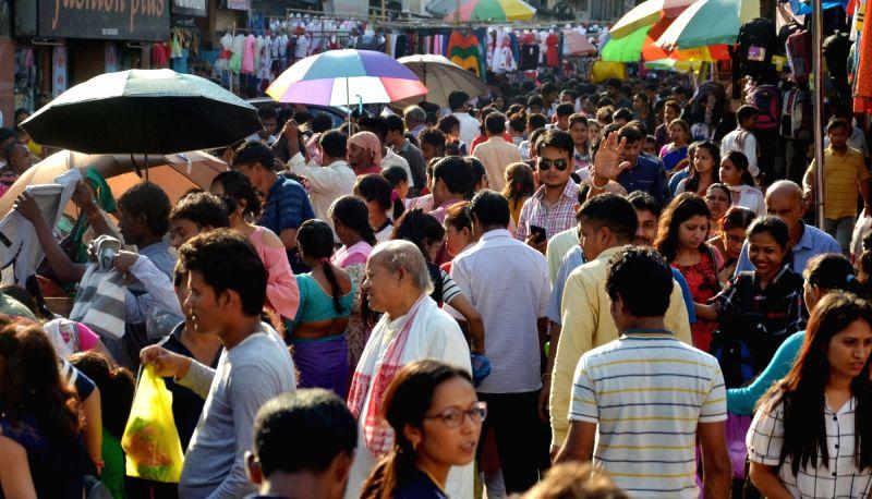 Crowded market. (File Photo: IANS)