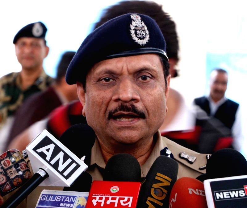 CRPF DG talks to press