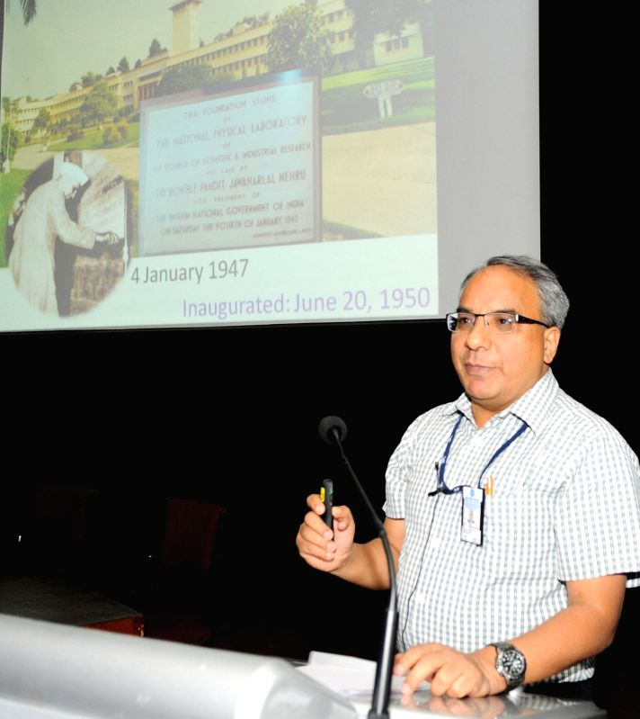 CSIR-NPL Director Dr. DK Aswal addresses at the inauguration of a One Day Workshop on the Noise Pollution organised by the CSIR-NPL in New Delhi on April 26, 2017.