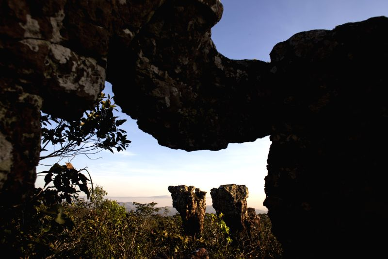 View of the Chapada dos Guimaraes National Park, about 60 kilometers from Cuiaba, capital of the State of Mato Grosso, Brazil, on June 20, 2014. Cuiaba is one of the