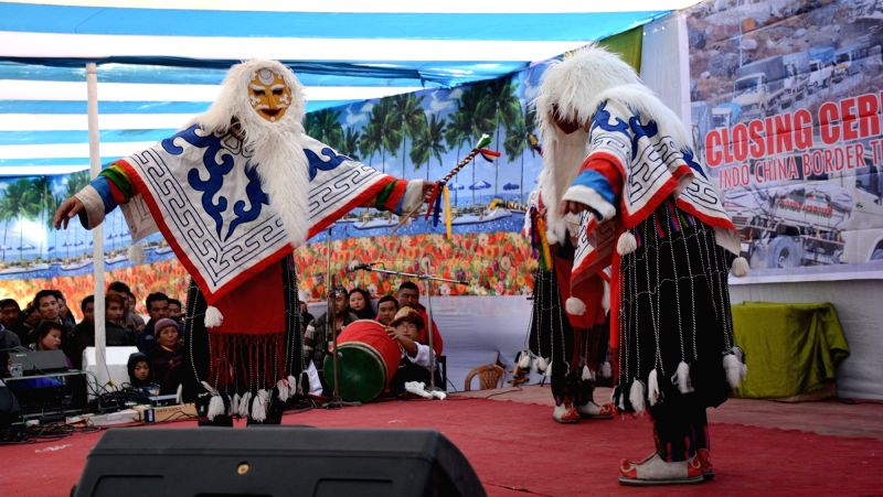 Cultural programme underway at the 10th Indo-China Border Trade (2015) at Sherathang, East Sikkim Dec 1, 2015.