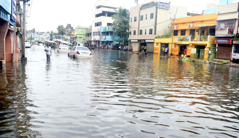 : Cuttack: A view of flooded streets of Cuttack on July 21, 2018. (Photo: IANS).