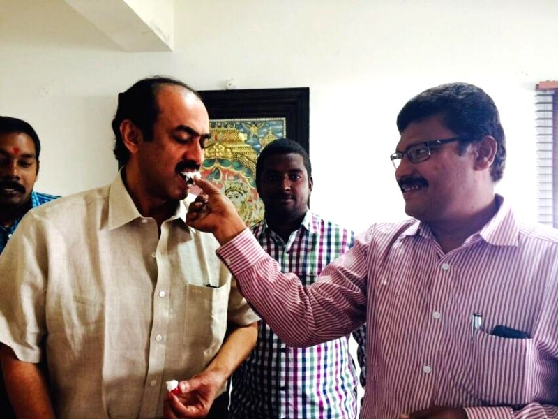 D Suresh Babu Birthday Celebrations Photos with fans.