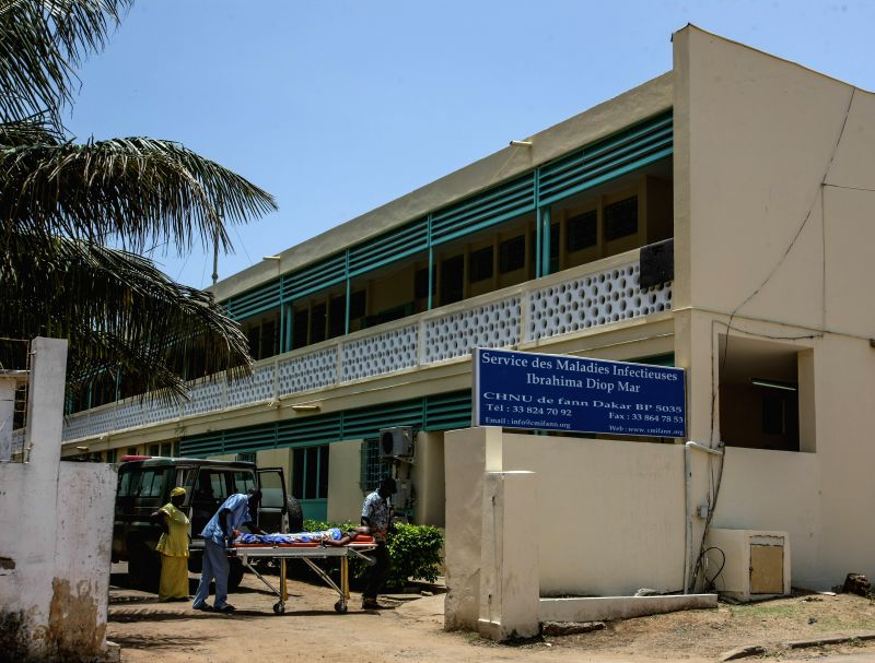 Photo taken on Aug. 29, 2014 shows the Central Hospital of University of Fann in Dakar, Senegal, where the first case of Ebola in the country was received. The first .