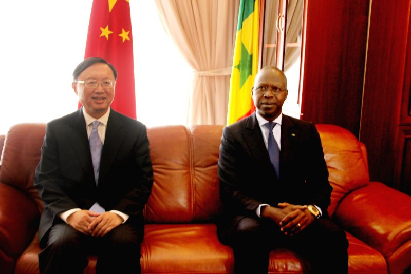DAKAR, May 6, 2016 - Chinese State Councilor Yang Jiechi (L) meets with Senegalese Prime Minister Mahammed Boun Abdallah Dionne in Dakar, Senegal on May 6, 2016. Chinese State Councilor Yang Jiechi ... - Mahammed Boun Abdallah Dionne