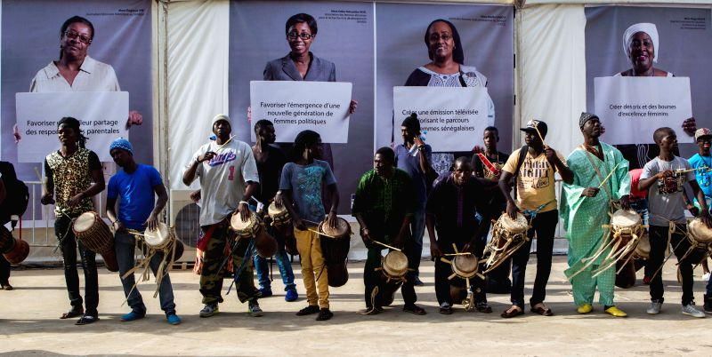 Dakar (Senegal): Artists perform at the opening ceremony of the Cultural Village of La Francophonie, Dakar, Senegal, Nov. 24, 2014. As a traditional warm-up project of the upcoming summit of the ...