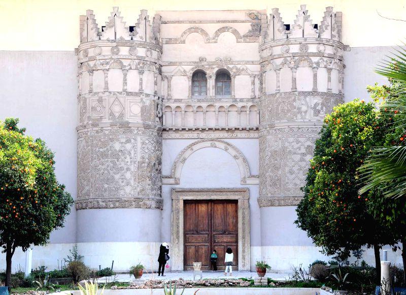 SYRIA-DAMASCUS-NATIONAL-MUSEUM-GARDEN