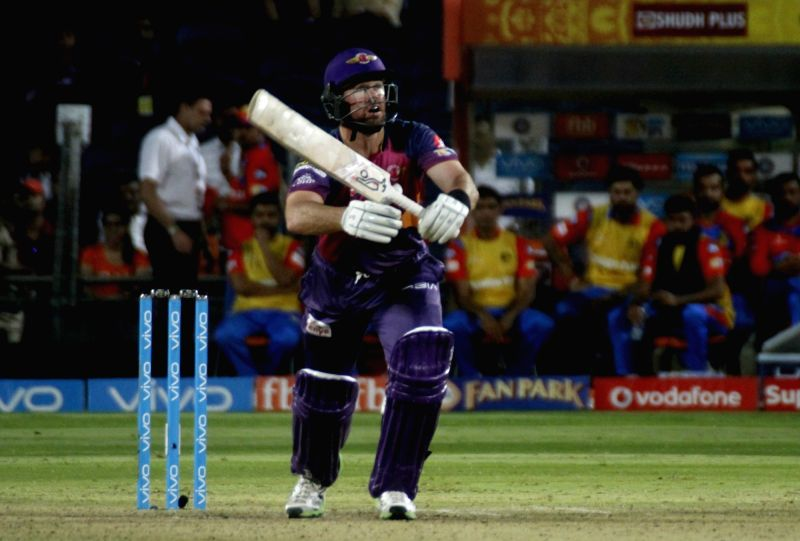Daniel Christian of Rising Pune Supergiant in action during an IPL 2017 match between Rising Pune Supergiant and Gujarat Lions at Maharashtra Cricket Association Stadium in Pune on May 1, 2017.